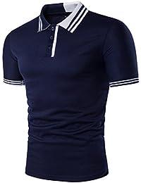 f61a9bcb2489 Meedot Herren Poloshirt Kurzarm Pullover Freizeit Shirt Sommer Tennis Golf  Polo Slim Fit Poloshirts Oberteil