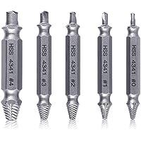 YTCWR Extractor de tornillos de 5 piezas, extractor de tornillos