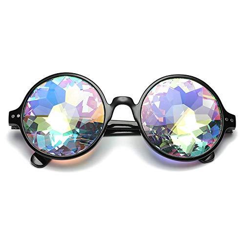 GY-HHHH Klassisches Retro-Outdoor-EssentialNight Show Kostüme Psychedelic Sonnenbrillen Tanzkleid cool-schwarz