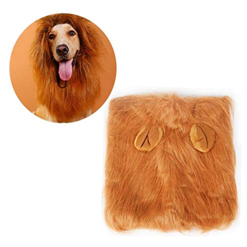 Hund Lion Perücke Löwe Mähne Für Hunde Löwe Mähne Kostüme Kopfumfang Unter 74cm Hunde (Verkaufen Kostüm)