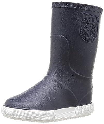Boatilus Nautic, Bottes de pluie mixte enfant - Bleu (Marine Écossais Vanille/Blanc), 29 EU (11 UK)