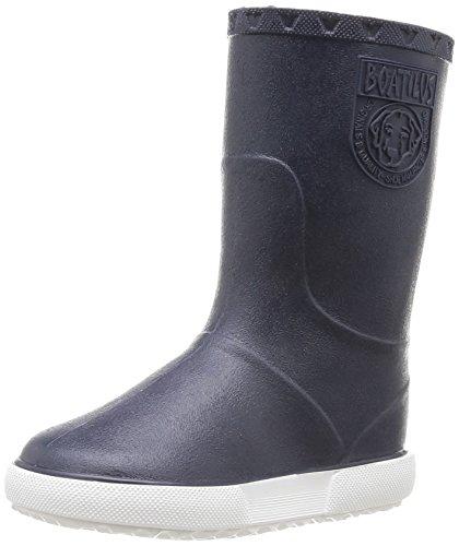 Boatilus Nautic, Bottes de pluie mixte enfant - Bleu (Marine Écossais Vanille/Blanc), 30 EU (11.5 UK)