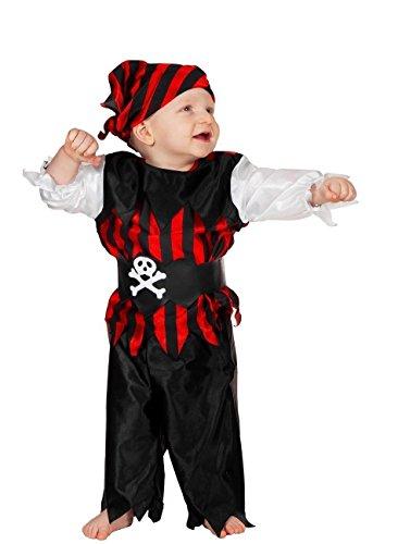 W3024-92 Piraten-Kostüm Baby-Kleinkinderkostüm ()