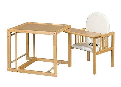 Best For Kids Kombihochstuhl Victoria – leicht umbaubar zur Stuhl-Tisch-Kombination HIGH QUALITY