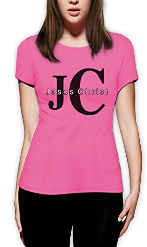 JC Jesus Christ Christus Weihnachten Kirche Frauen Rosa X-Large T-Shirt (T-shirt Rosa Kirche)