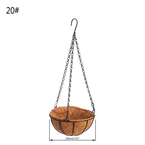 JAGETRADE Hanging Coconut Vegetable Flower Pot Basket Liners Planter Garden Decor Iron Art