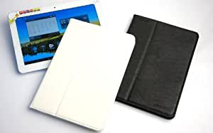 """10.1"""" Black / White leather case for Ployer MOMO20 momo 20 10.1inch tablet PC+screen protector+stylus pen"""