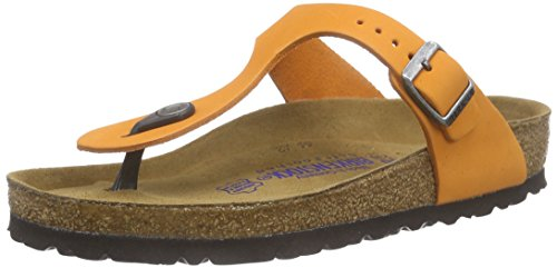 birkenstock-gizeh-leder-softfootbed-tongs-adulte-mixte-orange-orange-40
