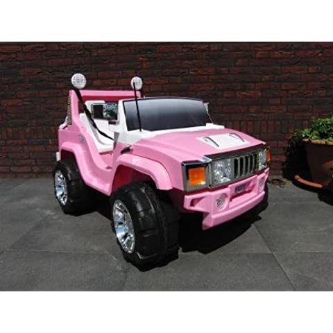 COCHE TODO TERRENO HUMMER STYLE PEKECARS PINK 12V FM