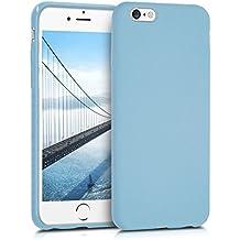 kwmobile Funda para Apple iPhone 6 / 6S - Case para móvil en TPU silicona - Cover trasero en azul claro mate