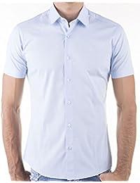 KAYHAN chemise pour homme coupe slim 10 coloris au choix pour femme s-xL