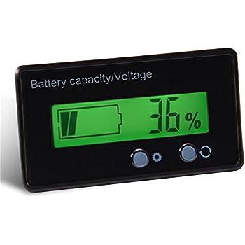 Voltmeter Digital LED 24v Blei Säure Batterie Anzeige Batterie Kapazität Tester