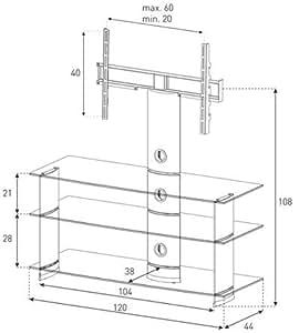 """Sonorous pL - 2130 c-bLK meuble pour tV 50 """""""