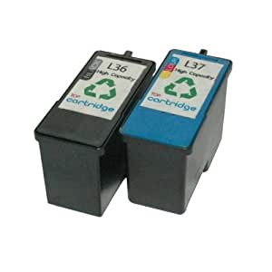 Lexmark 36 + 37 remanufactured ink cartridges High Capacity L36 and L37 for printers Lexmark X-series and Z-series