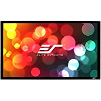 Elite Screens Er100Wh1 Sable Frame Series 254 100 Inch Screen for Projector White