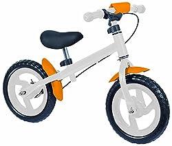 Eddy Toys 48908 - Kinder Laufrad, Höhenverstellbar, weiß/Orange