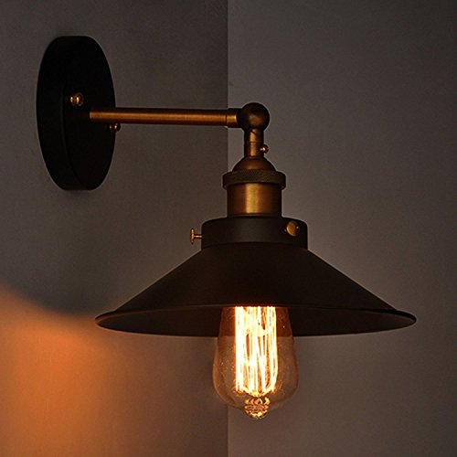 Edison Wall Lamp Antique Vintage industrial loft, E27 Holder, Decorative,...