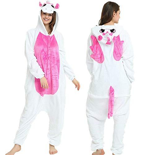 SHANGN Tier Onesies Für Mädchen Pokemon Nachtwäsche Cosplay Weihnachten Anzüge Erwachsene Weibliche Reißverschluss Frauen Männer Winter (Weiblichen Superhelden Kostüm Babys)