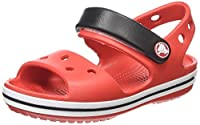 Crocs Crocband Kids Ankle Strap Sandals - Red (Flame/White), 4 UK Child (19-20 EU)