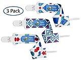 Baby Wings Ciuccio catene-3er nastri Set con unico modello-Tenere Il Ciuccio per ragazzi e ragazze immagine