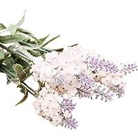 Amesii 10 Heads 1 Bouquet Faux Silk Lavender Fake Garden Plant Flower Home Decor - White