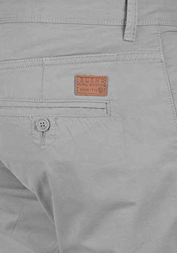 BLEND Tromp Herren Chino-Hose lange Business Hose Casual Stoffhose Freizeithose aus 100% Baumwolle Aluminium (70107)