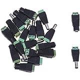 SODIAL(R) 10 paire Adaptateur connecteur Jack Male Femelle DC pour CCTV 2.1x5.5mm