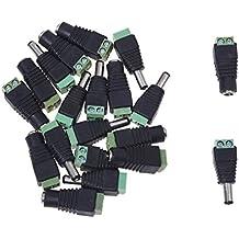 SODIAL(R) 10 Par Conector Jack Macho Hembra Adaptador DC para CCTV 2.1x5.5mm