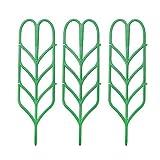 WINJEE, 3Pellis Traliccio per Piante Fai-da-Te per Supporto per Piante in Vaso, Forma di Foglia Mini Piante rampicanti Ortaggi a Fiore Rosa Vite Pisello Edera Cetrioli Supporto per vasi