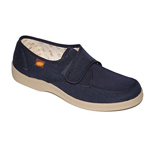 Segeltuchschuhe Klettverschluss für sehr empfindliche Füße Doctor Cutillas marineblau Marineblau