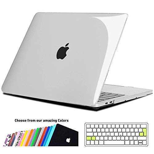iNeseon MacBook Pro 13 Hülle Case 2018/2017/2016,Hartschale Cover mit EU/ohne Touch Bar Modell A1989/A1706/A1708, Kristallklar