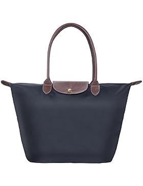 Nylon Damen Shopping Shopper Tasche, Diealles Frauen Stilvolle Wasserdichtes Nylon Schultertasche Einkaufstasche...