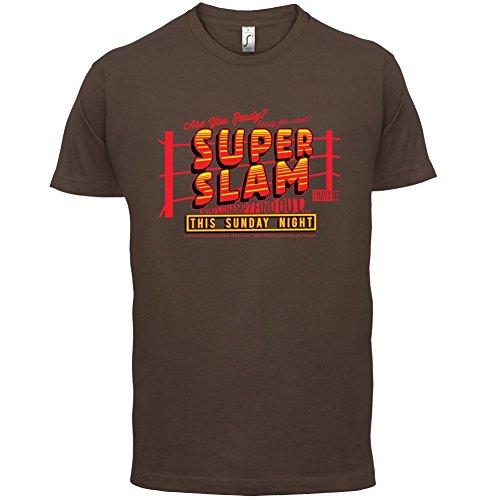 Super Slam - Herren T-Shirt - 13 Farben Schokobraun