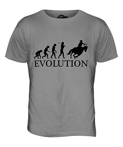 CandyMix Cowboy Evolution Des Menschen Herren T Shirt Hellgrau