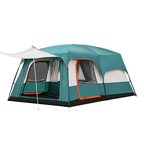 Dyl Outdoor Zwei Schlafzimmer eine Halle großer Raum Zelt 3-4 Personen Haus Sonne Regen 8-10 Personen Camping Zelt Baldachin (Color : ORANGE) -