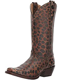 Ariat Women's Western Wildcat Western Cowboy Boot Naturally Distressed Leopard Patent 5.5 B(M) US