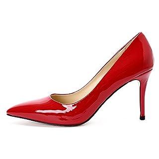 Darco Gianni Damen Pump Schuhe Mit Absatz Womens High Heels Shoes Spitze  Schwarz Leder For Hochzeit da3bd27f73