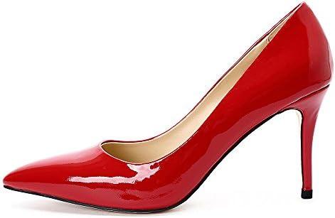 Darco Gianni Mujer Zapatos de Aguja Alto Tacon Nude Patente Cuero High Heels Clasico Punta Cerrado Para Fiesta...