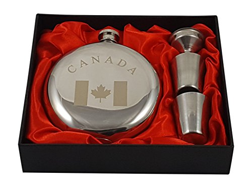 Geschenkset mit Kanada-Flachmann
