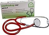 Stethoskop Flachkopf Farbe: rot von Medi-Inn super Akustik PZN: 04460000