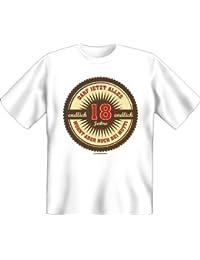 Rahmenlos T-shirt anniversaire–Enfin 18–Ne Peut maintenant tout...–Fun Fun T-shirt blanc XXL