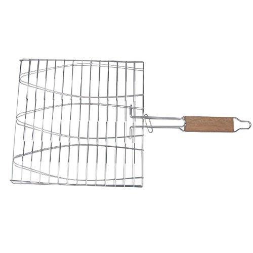 Huaxiong antiaderente pieghevole Pesce cottura alla griglia arrosto carrello Extra Large Triple Pesce cottura alla griglia Basket