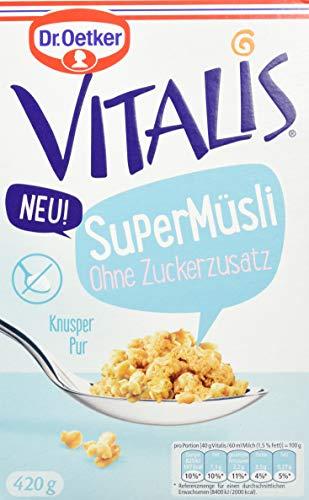 Dr. Oetker Vitalis SuperMüsli Ohne Zuckerzusatz, 7er Pack (7 x 420 g)