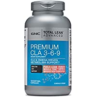 GNC Total Lean Advanced Premium CLA 3-6-9 120 Softgel Capsules by GNC