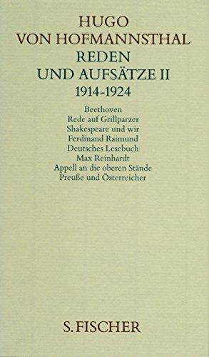 Hugo von Hofmannsthal. Gesammelte Werke in zehn Einzelbänden. Gedichte-Dramen I 1891-1898 /Dramen II 1892-1905 /Dramen III 1893-1927 /Dramen IV. ... 1925-1929: Reden und Aufsätze II. 1914-1924