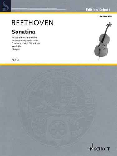 Ludwig Van Beethoven - Sonatina, Woo 43A: Cello and Piano (Edition Schott)