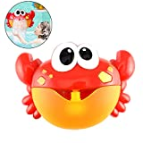Anbslue Bath Toys, Baby Bath Bubble Toys, Auto Crab Kids Bath Bubble Machine with 12 Musics Baby Fun Shower Toys