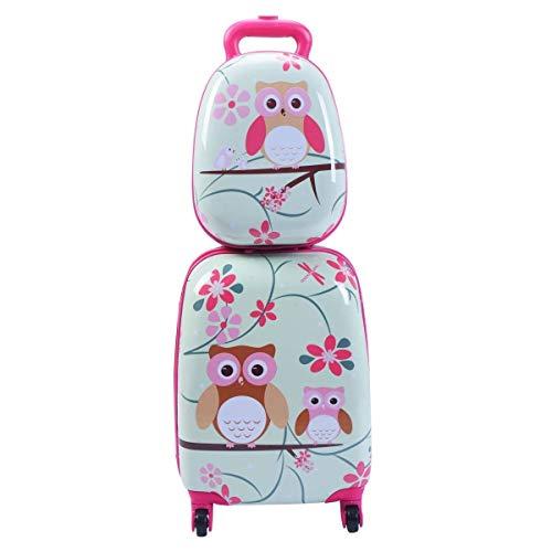 Anab Kinder Machen Spinnergepäck mit, Hartschalen-Reise-aufrechter rollender Koffer für Jungenkinder (Farbe : Style A)