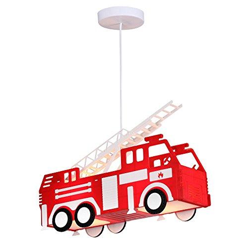 Feuerwehr Auto Hänge Leuchte rot Pendel Lampe Kinder Spiel Zimmer Beleuchtung Globo 15726 Home-feuerwehr Leiter