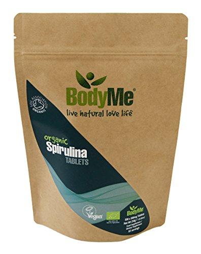 BodyMe Bio Spirulina Tabletten | 500 x 500mg | Soil Association Zertifiziert Bio (Zustand Beta-carotin)
